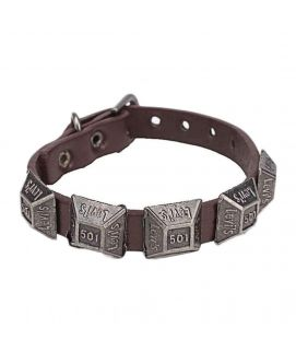 100 Degreez Brown Leather Bracelet JP 1497