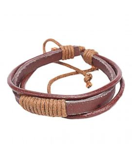 Brown Leather Bracelet JP 1572