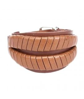 Brown Leather Stylish Bracelet JP 1466