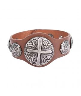 Brown Leather Wonen's  Stylish Bracelet JP 1475