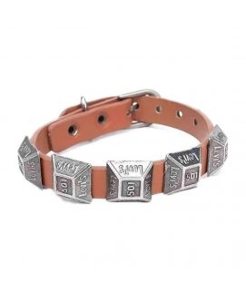 Brown Leather Stylish Bracelet JP 1503