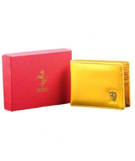 Men's Yellow Leather Stylish Wallet
