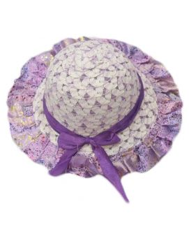 Ribbon Hats For Girls Purple