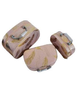 Women's Pink 3 Piece Jewellery Box