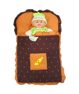 Baby Carry Nest Orange With Brown