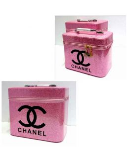 Channel 2 Piece Makeup Box Baby Pink