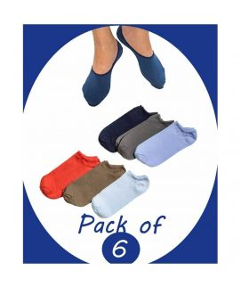 Pack Of 6 Cotton Low Cut Non Slip Socks