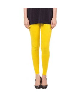 Yellow Skinny Tights For Women's