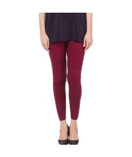 Maroon Skinny Tights For Women's