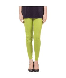 Light Green Skinny Tights For Women's