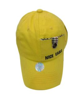 Yellow New Casual Fitted Hats And Caps For Men