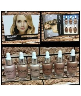 Iconic Liquid Highlighter 6 Pcs Set