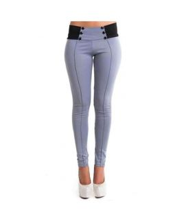 Women's Grey Slim Stretch Pencil Pants