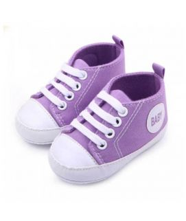 Purple Soft Sole Shoes First Walkers Baby Shoes