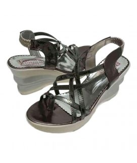 Women's Wedges Shiny Black
