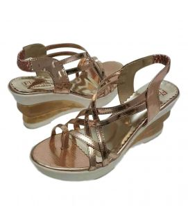 Women's Shiny Brown Wedges