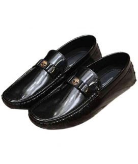 Shining Black Stylish Loafers For Men