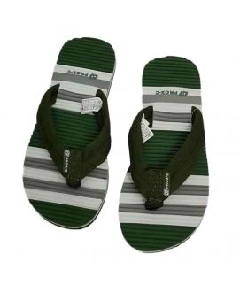 Men's Casual Wear Flip Flops Green & Grey