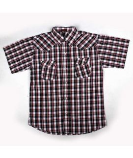 Check Style Purple Shirt For Boys
