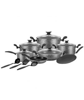 King Chef Cookware Non Stick Set Choclate Series 15 Pieces