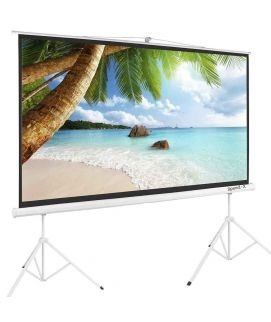 Projector Screen 150 Inch Tripod Potable Double Stand 8x10 Feet 4_3M_W Speed-X
