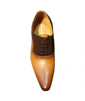 Men's Brown Oxfords Leather Shoes