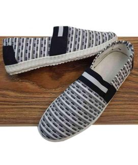 Men's New Style Loafers Shoes Black & White