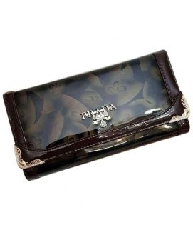 Ladies Dark Brown Leather Clutch
