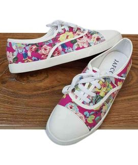 Women's Stylish Branded Flower Design Shoes Pink