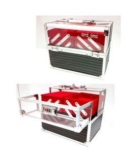 4 Tray Transparent Box Red