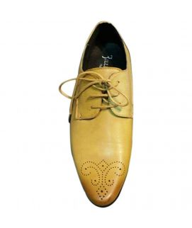 Men's Light Brown Lace Up Leather Shoes