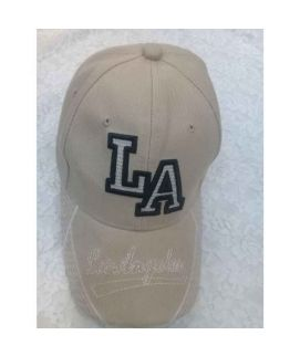 Grey LA Printed New Casual Fitted Hats And Caps For Men