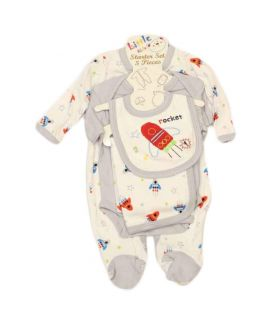 New Born Baby 7 Pieces White Suit