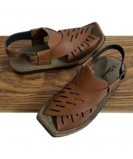 Men's Camel Brown Peshawari Sandals