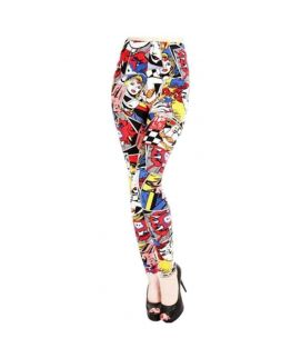 Women's Trendy Elastic Graffiti Printed Legging