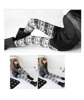 Women Knitted Printed Legging