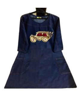 Women's Buggy Blue Denim Kurti