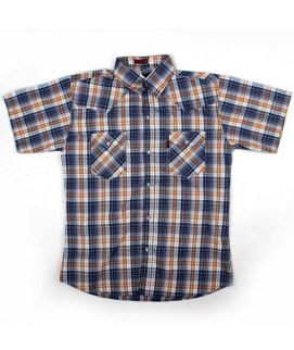 Check Style Black And Brown Shirt For Boys