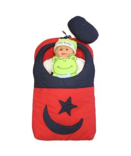 Baby Carry Nest Red With Blue Moon Star Style