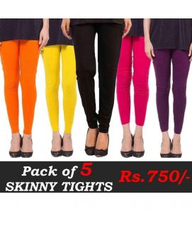 Skinny Tights Pack of 5