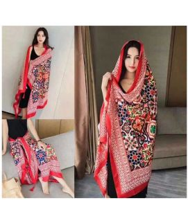 Women's Multicolor Winter Imported Shawls