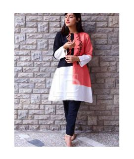 Women's Mixture Baby Pink Kurti