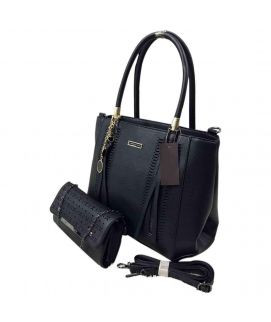 Black Stylish Leather Hand bag