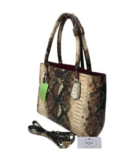 Brown Graphic Print Ladies Handbag