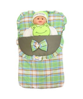 Baby Carry Nest Checks Style Green