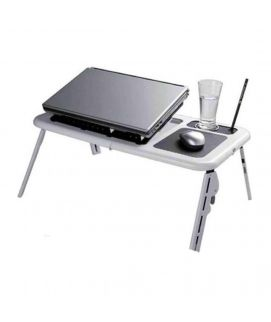 5 Dollar Shop E Table With Laptop Cooling Pad Black & White
