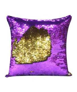 Magic Cushion Star Writing Purple And Golden