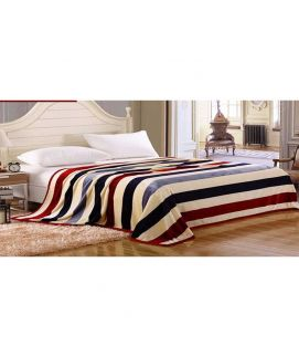 Fleece Blanket Cream And Red