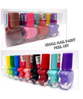 Small Nail Paint Peel Off 24 Pcs