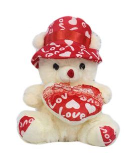Love Teddy Bear White